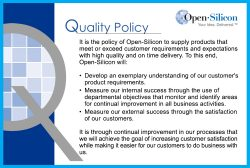 Open-Silicon-Quality-Policy