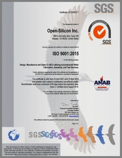 Open-Silicon_ISO 9001_2015 certificate